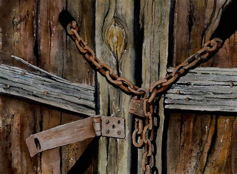 Locked Doors Painting By Sam Sidders