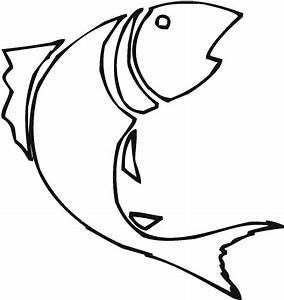 Best HD Bass Fish Outline Clip Art Design
