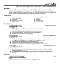 results for accounting clerk resume slea calendar