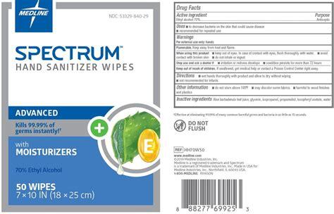 spectrum hand sanitizer wipes cloth medline industries
