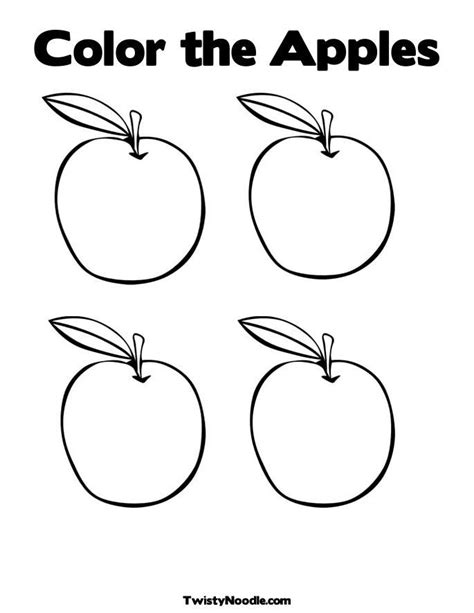 apple coloring pages for preschoolers az coloring pages 867 | 8cz8naEcp
