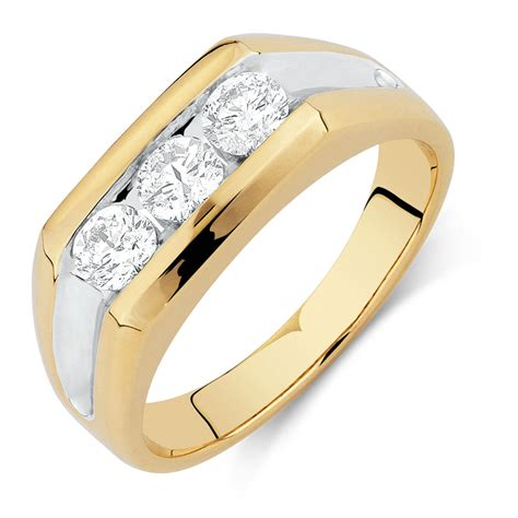 mens engagement ring 39 s ring with 1 carat tw of diamonds in 10kt yellow gold