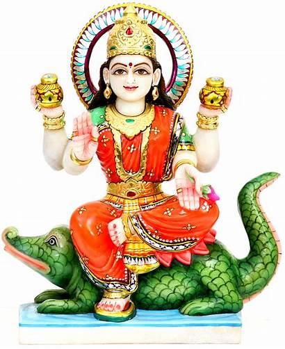 Ganga Statue Goddess Crocodile Mata Mygodpictures Mount