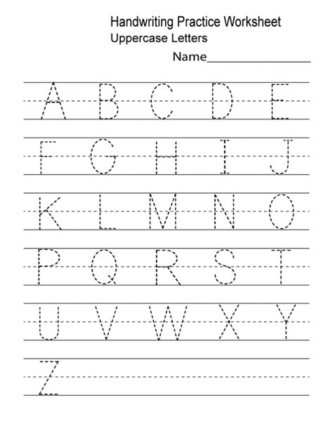 Printable Handwriting Practice Sheets For Preschool Kindergarten & Adults