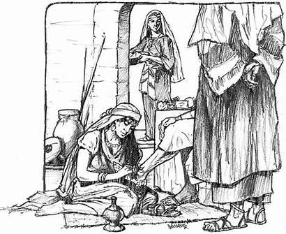 Martha Mary Faith Sisters Illustration Lessons Jesus
