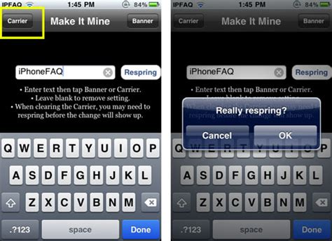 how to change carrier name on iphone without jailbreak how can i hide change the iphone carrier name the