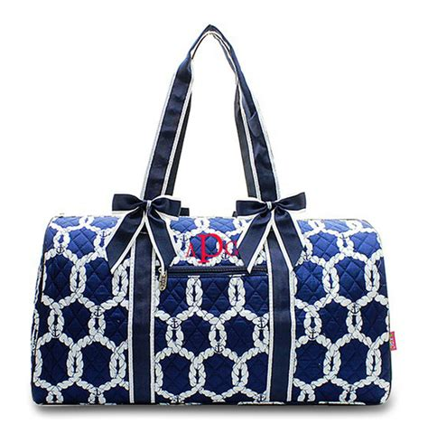 quilted duffle bag monogram quilted duffel bag rope pattern