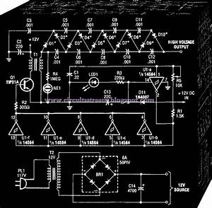 Build A 10000 Vdc Supply Circuit Diagram