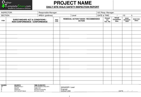 Building Defect Report Template