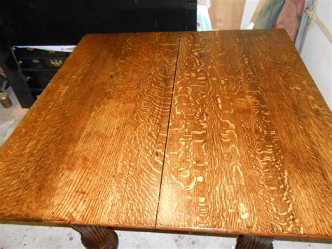 antique quartersawn white oak dining table ana white