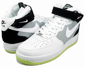Nike Air Force 1 Mid 07 White Black Neon Yellow