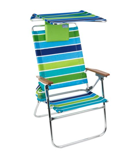 rio brands hi boy aluminum beach chair with canopy and