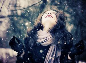 people,winter,flakes,girl,snow ...