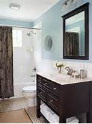 Blue Bathroom Design Ideas Home Appliance Guest Bathroom Colors Crafts Pinterest Gray Bathroom This Traditional Bathroom Gets A Contemporary Twist With A Counter