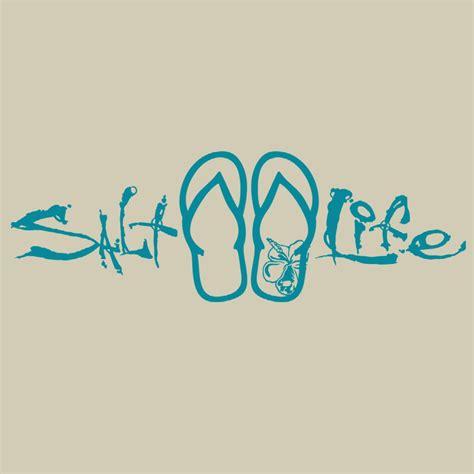 salt life signature sandal decal shopthedockscom