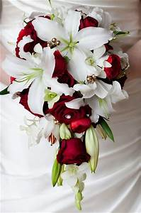 tear drop white lily and red rose bouquet | *Every girl ...