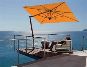 Parasol De Balcon Inclinable : parasol de balcon pour anticiper la venue du soleil ~ Premium-room.com Idées de Décoration