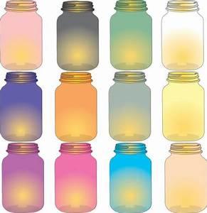 Lamp clipart mason jar colored glass looks like