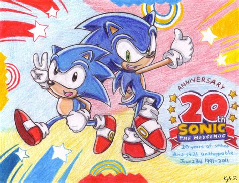modern and classic sonic 20th anniversary by
