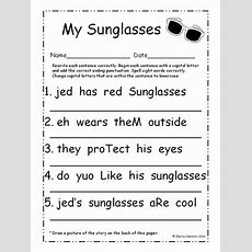 Summer Fix It Up Sentences (june)  Sentence Writing, Morning Work And Punctuation