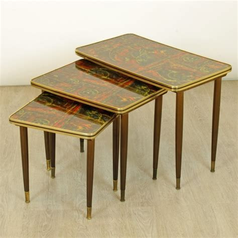 set of 3 vintage nesting tables 1950s 54150