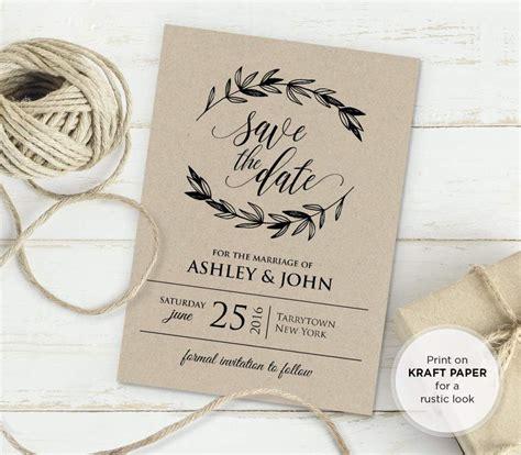 rustic vintage wedding invitation templates