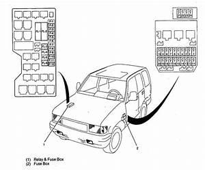 Isuzu Trooper  1998 - 1999  - Fuse Box Diagram