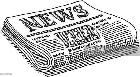 Newspaper Drawing High Res Vector Graphic Getty Images