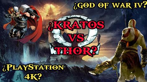 God Of War 4 Kratos Vs Thor Ps4 Pro Youtube