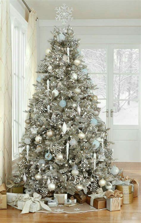 silver and white christmas decorations uk