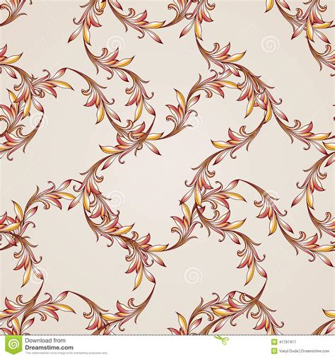 Golden Dreams And Pastel Shades Come To by Seamless Floral Pattern In Pastel Shades Stock