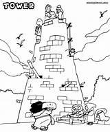 Tower Coloring Pages Babel Sheet Water Building Printable Menara Sheets Sunday Colorings Adult Colorir Disimpan Dari Yahoo sketch template