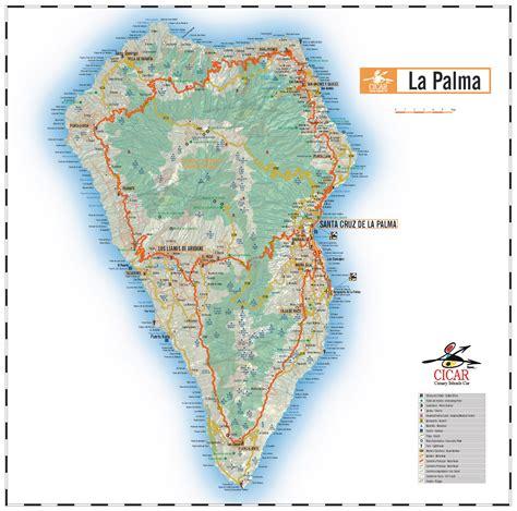 mapas de carreteras de las islas canarias isla de