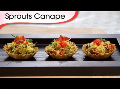 indian canapes ideas sprout canapes indian vegetarian tangy