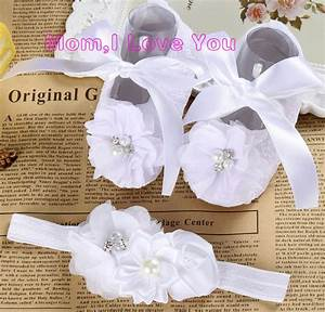 Ivory newborn Booties christening shoes for baby girl ...