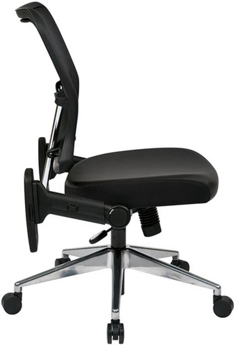 office mesh back chair with folding arms mesh back
