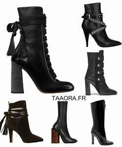 Tendance Chaussures Automne Hiver 2016 : les boots montantes noires talons chaussures d fil s ~ Melissatoandfro.com Idées de Décoration
