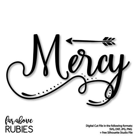 Browse 50 vector icons about arrow term. Mercy Word Art with Arrow SVG DXF png jpg digital cut | Etsy