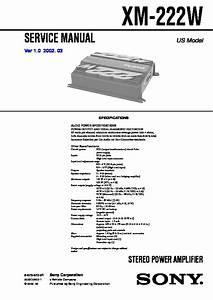 Sony Xm-222w Service Manual