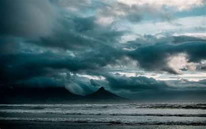 Ocean Surf Rocks Storm Clouds 4k Background