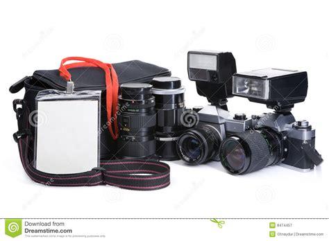 journalist equipment stock image image  press lenses