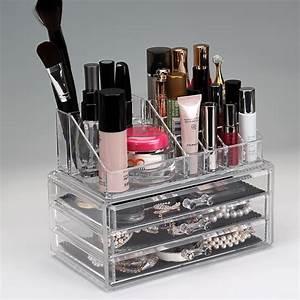 Rangement De Maquillage : grand acrylique tiroir maquillage organisateur transparent cosm tique maquillage bo te de ~ Melissatoandfro.com Idées de Décoration