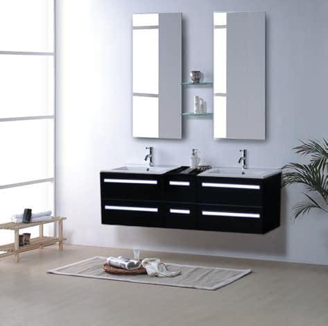 meuble salle de bain noir laque salle de bain meuble riviera2 noir meuble salle de bain contemporain 150x48 noir laque