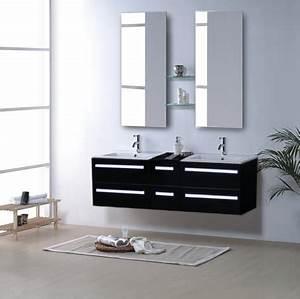 Meuble Salle De Bain Double Vasque Pas Cher : salle de bain meuble riviera2 beige meuble salle de bain contemporain 150x48 beige ~ Teatrodelosmanantiales.com Idées de Décoration