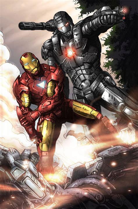 Marvel Iron Man & War Machine Glossy Print 11 X 17 In Hard
