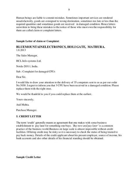 complaint letter  delay  delivery  goods complaint