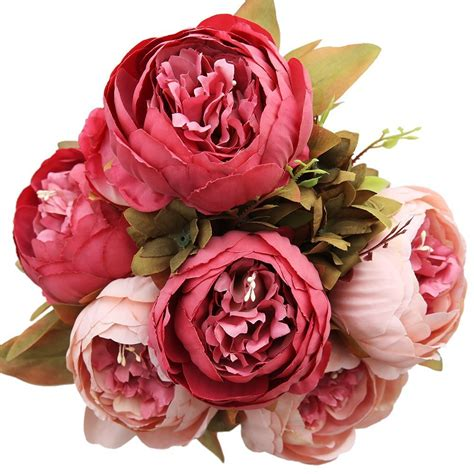 heads artificial peony home wedding faux silk simulation