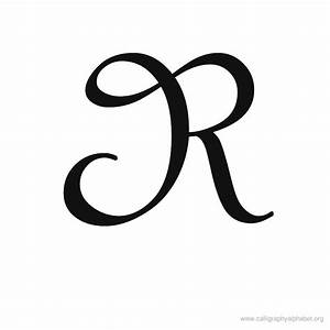 Calligraphy Alphabet R | Alphabet R Calligraphy Sample ...