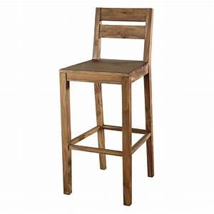 Chaise De Bar Maison Du Monde : chaise de bar en bois de sheesham massif stockholm maisons du monde ~ Teatrodelosmanantiales.com Idées de Décoration