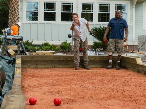 how to build bocce court how to build a bocce ball court how tos diy
